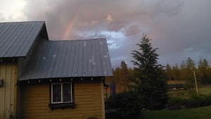 Living at the end of the rainbow in Huckleberry Country.