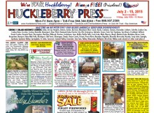 Huckleberry Press Front Page July 02, 2015