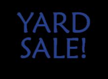 Huckleberry Press Yard Sale