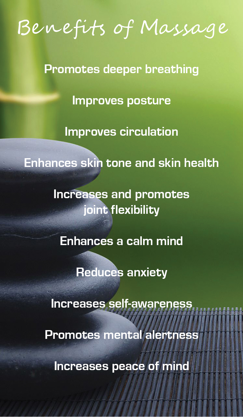Huckleberry Press Massage Benefits