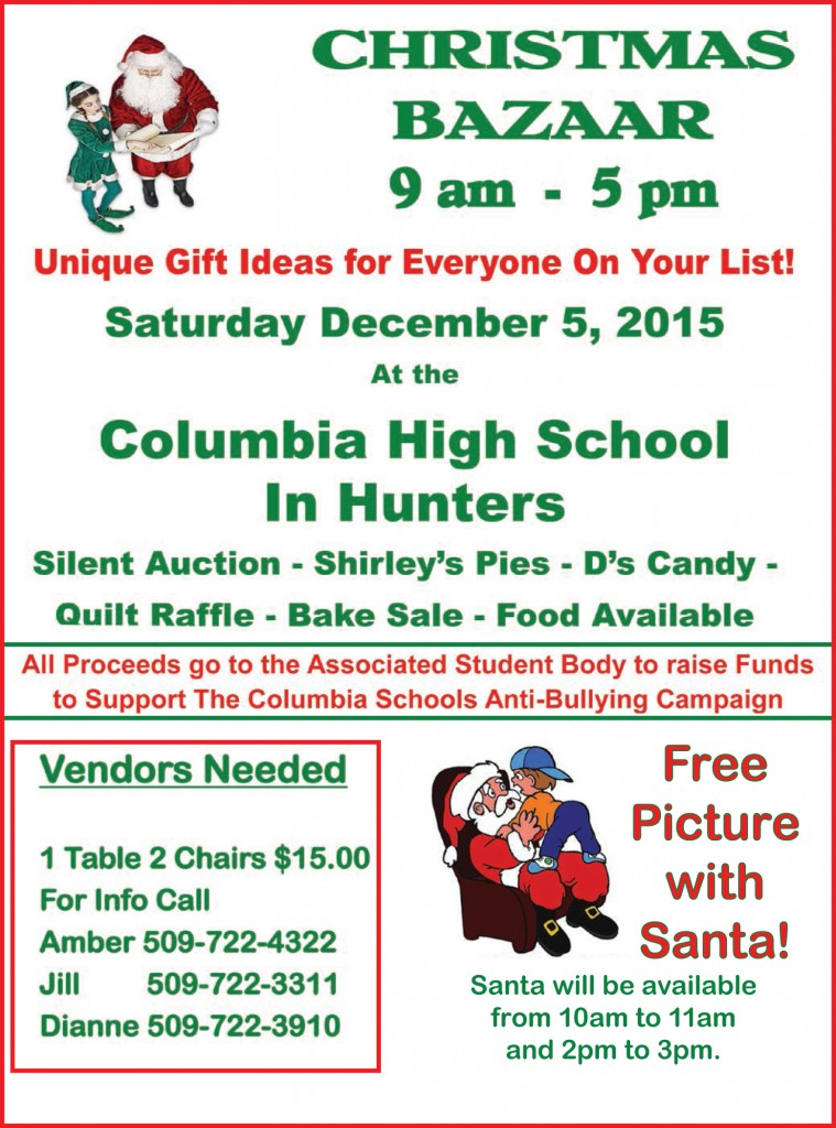 Columbia School Christmas Bazaar 110515
