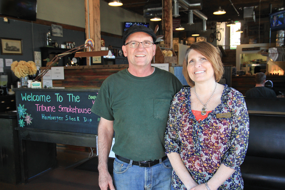Pete and Deb Brickners, propietors, Tribune Smokehouse
