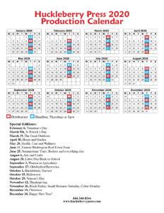 HBP 2020 Production Calendar