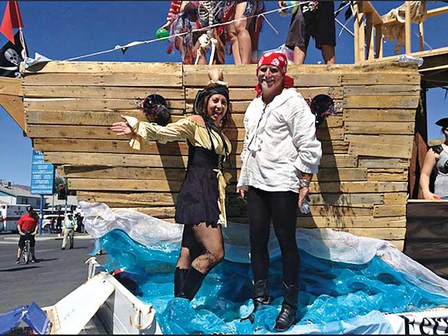 Pattie and Matt pirates!