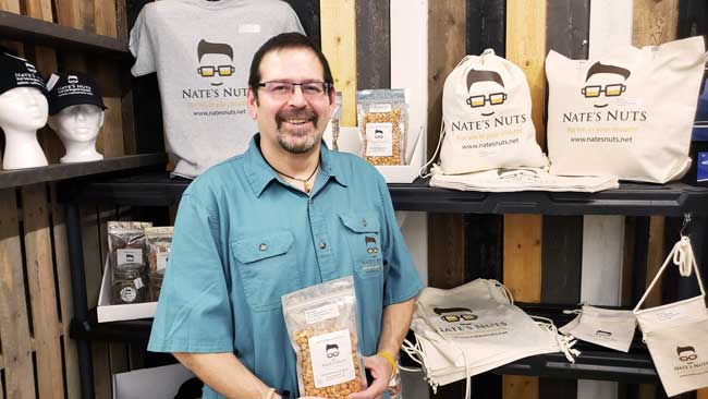 Nate Millspaugh, owner of Nate's Nuts