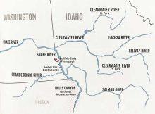 Washington Idaho Map